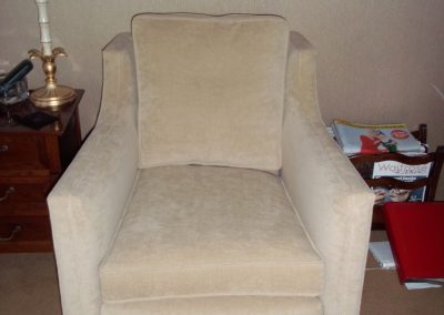 Chair from a multiyork three piece suite Restored by Richard Bull Upholstery
