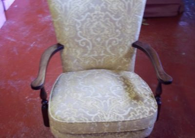 Restored chair ready for delivery.